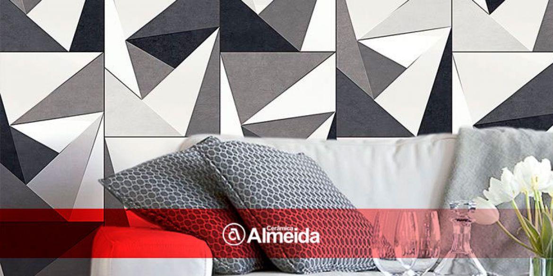 Pisos cerâmicos grandes formatos, acabamentos mais elegantes e harmoniosos.