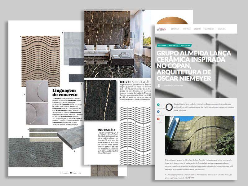 Revestimento 32HDA27 nas mídias de decoração e arquitetura